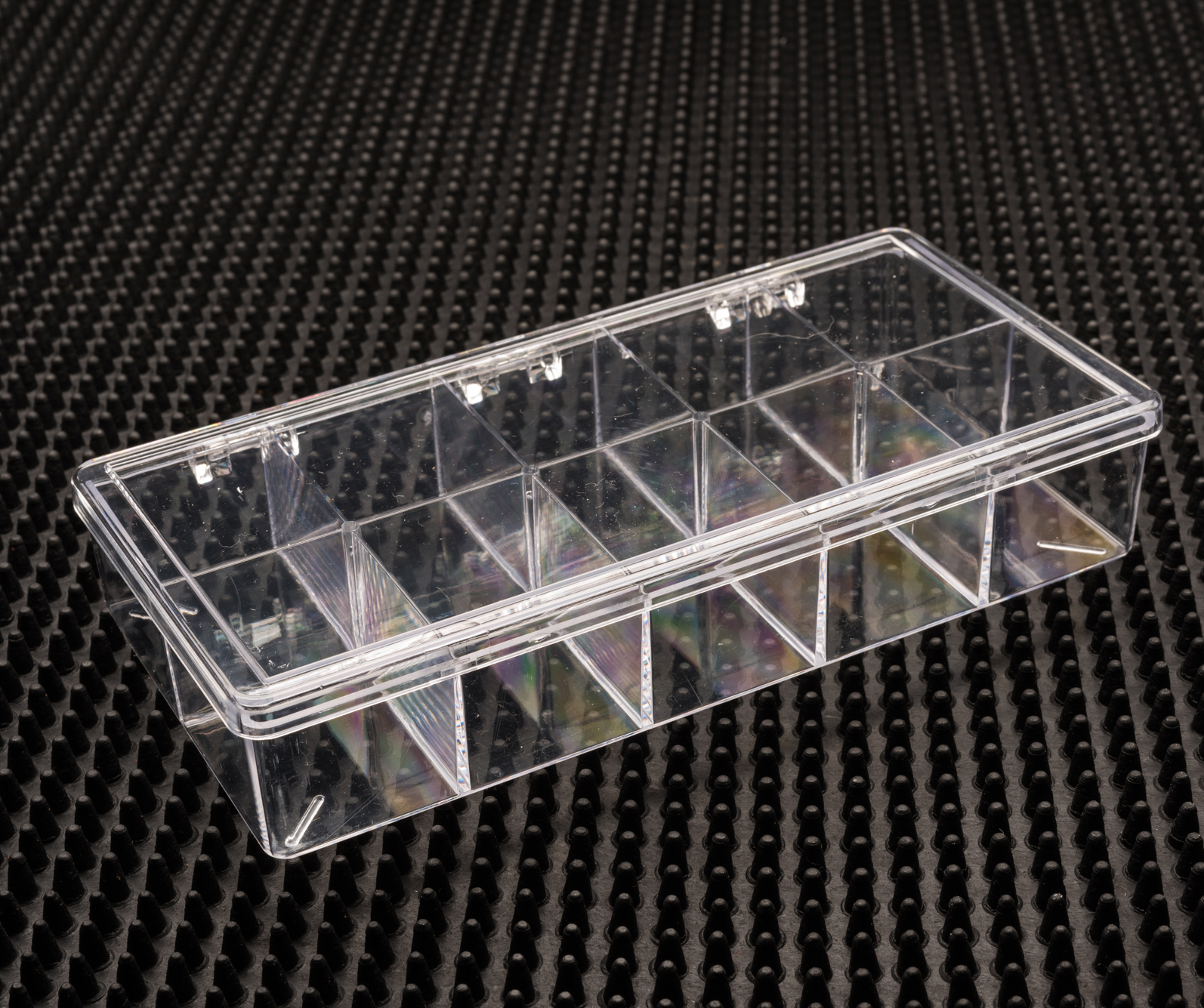 10 Compartment Clear Plastic Boxes (766C-10)