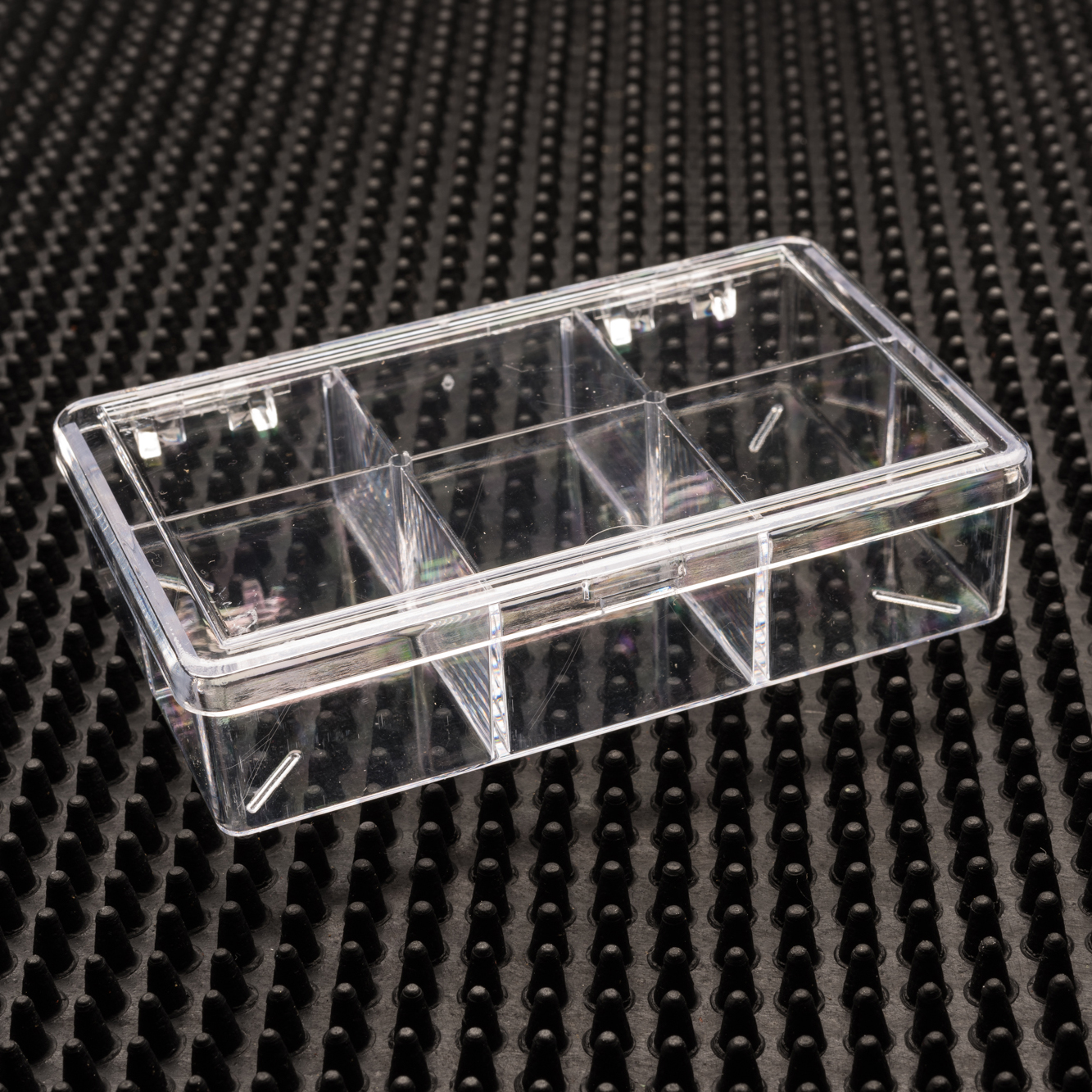 6 Compartment Clear Plastic Boxes - 756C-6