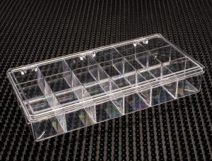 12 Compartment Clear Plastic Boxes (776C-12)