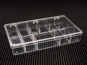 12 Compartment Clear Plastic Boxes (776C-12A)