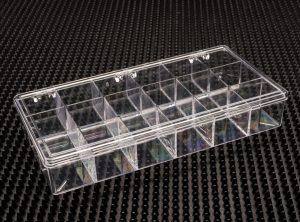 18 Compartment Clear Plastic Boxes (776C-18)