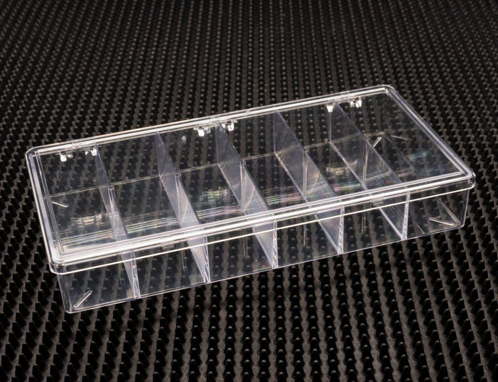 6 Compartment Clear Plastic Boxes (776C-6)