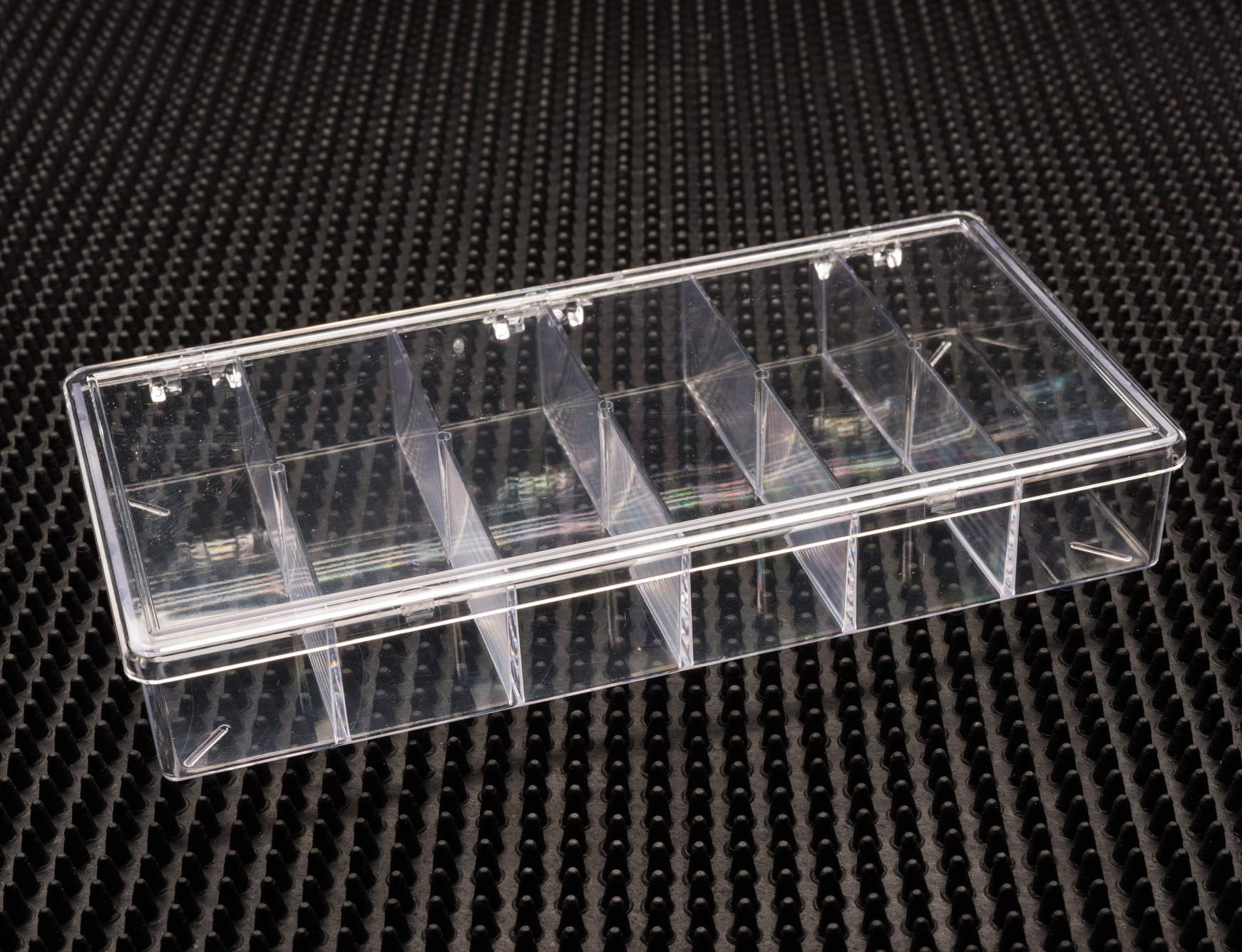 6 Compartment Clear Plastic Boxes (776C-6)
