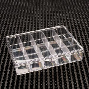 10 Compartment Clear Plastic Boxes (933C-10)